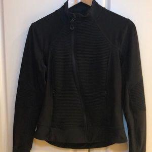 Ladies Mondetta Black Zip Athletic Jacket